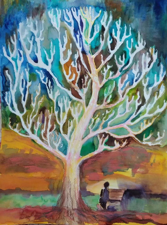 akvarel napapieri